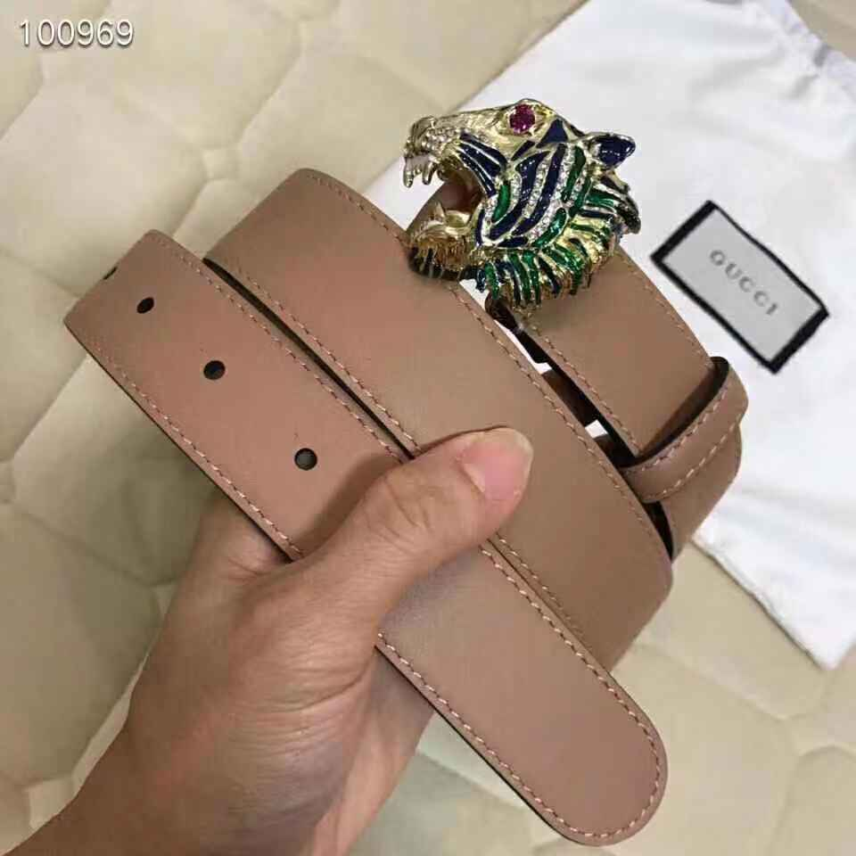 Gucci belt with tiger head