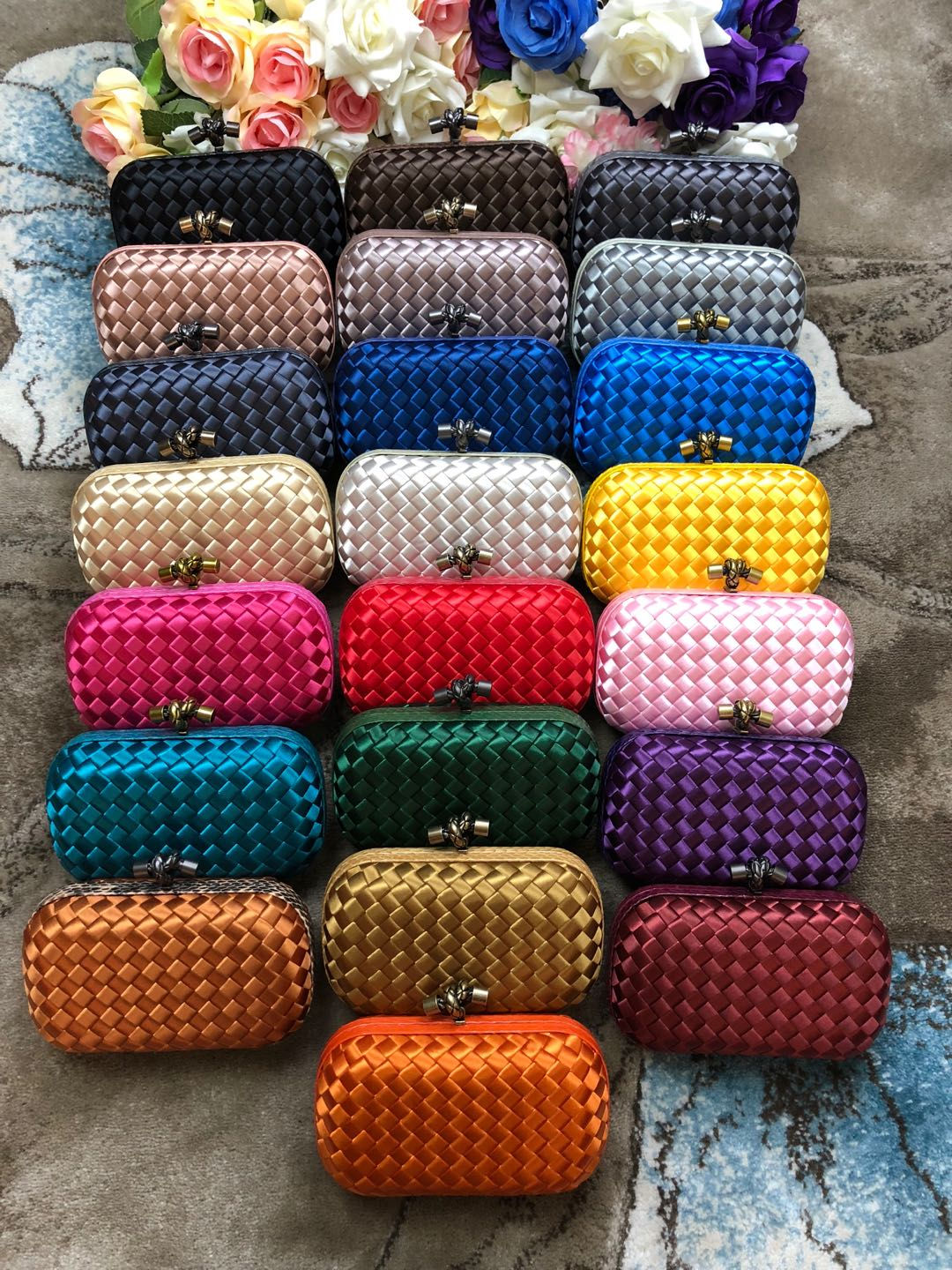 Real 1:1 Bottega Veneta Pouch Clutches in Multiple Colors