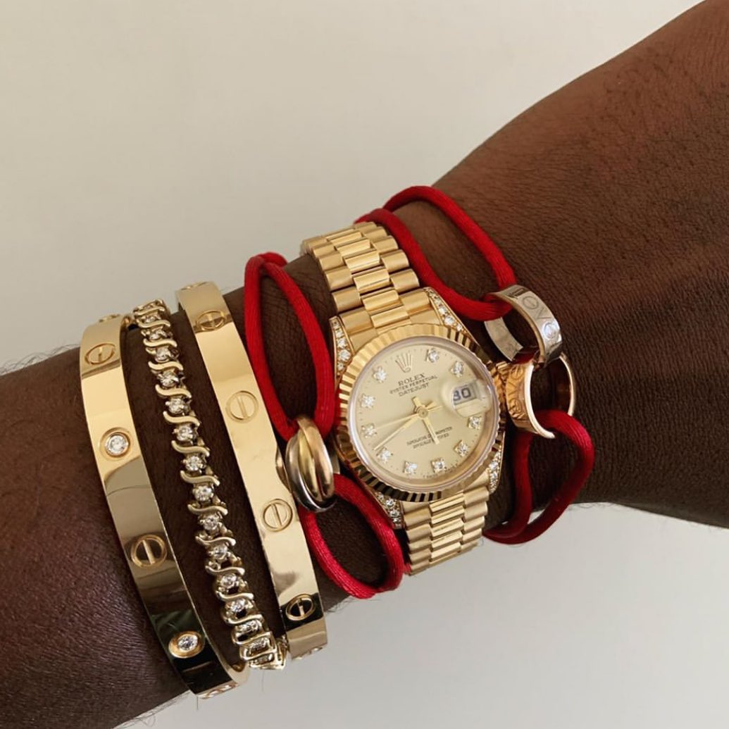 Wow! Amazing Stacking Ideas: Cartier Love Bracelet and Rolex Watch ~