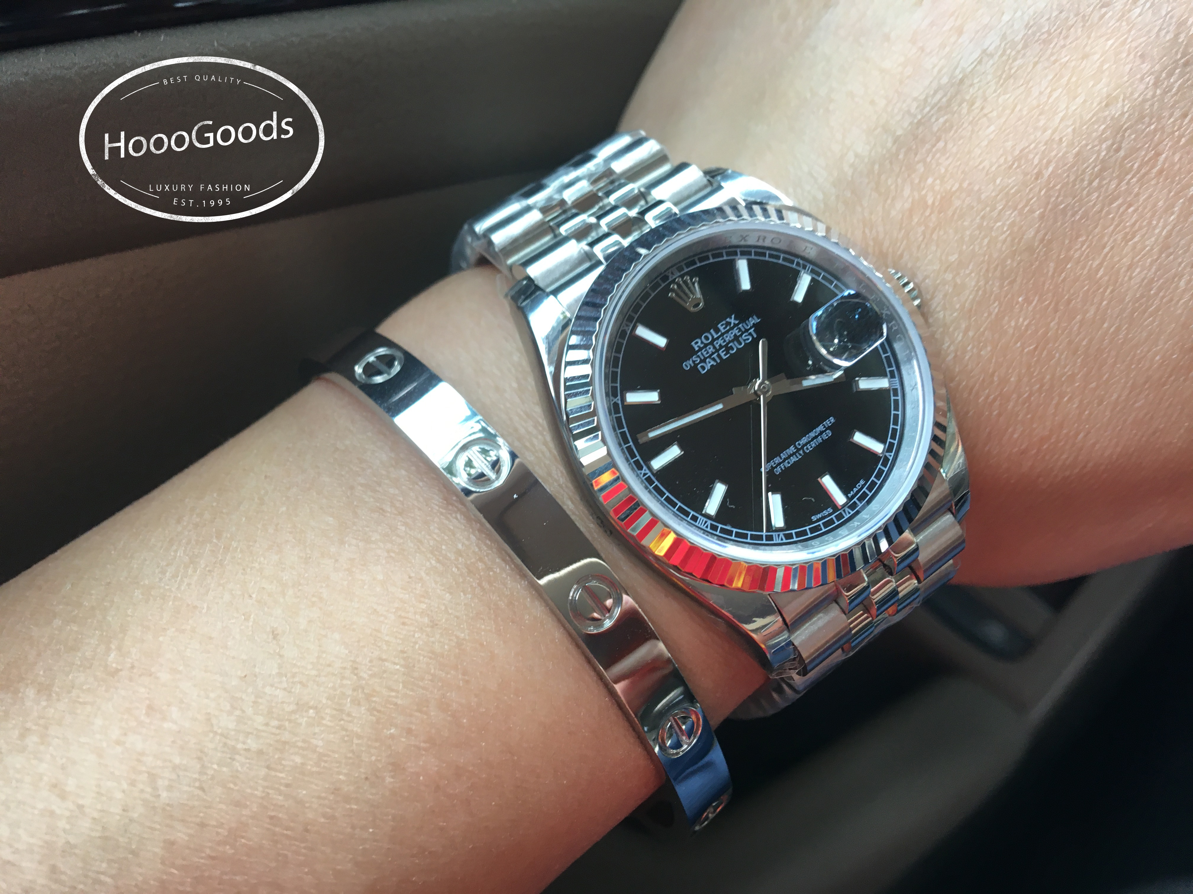 Rolex DAY-DATE 36 Watch and Cartier Love Bracelet