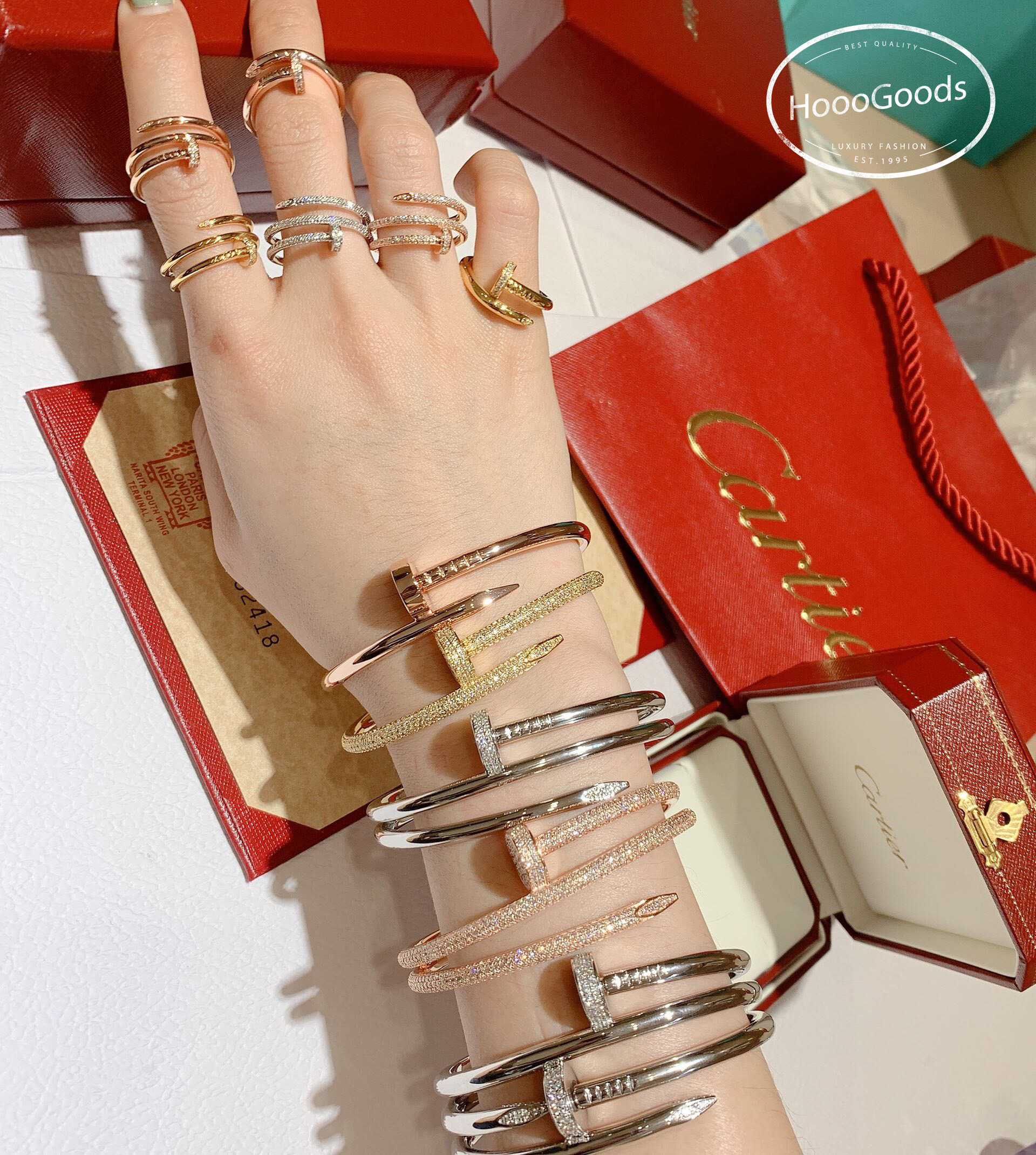 The Most Amazing Stacking Cartier Juste Un Clou Bracelets And Rings