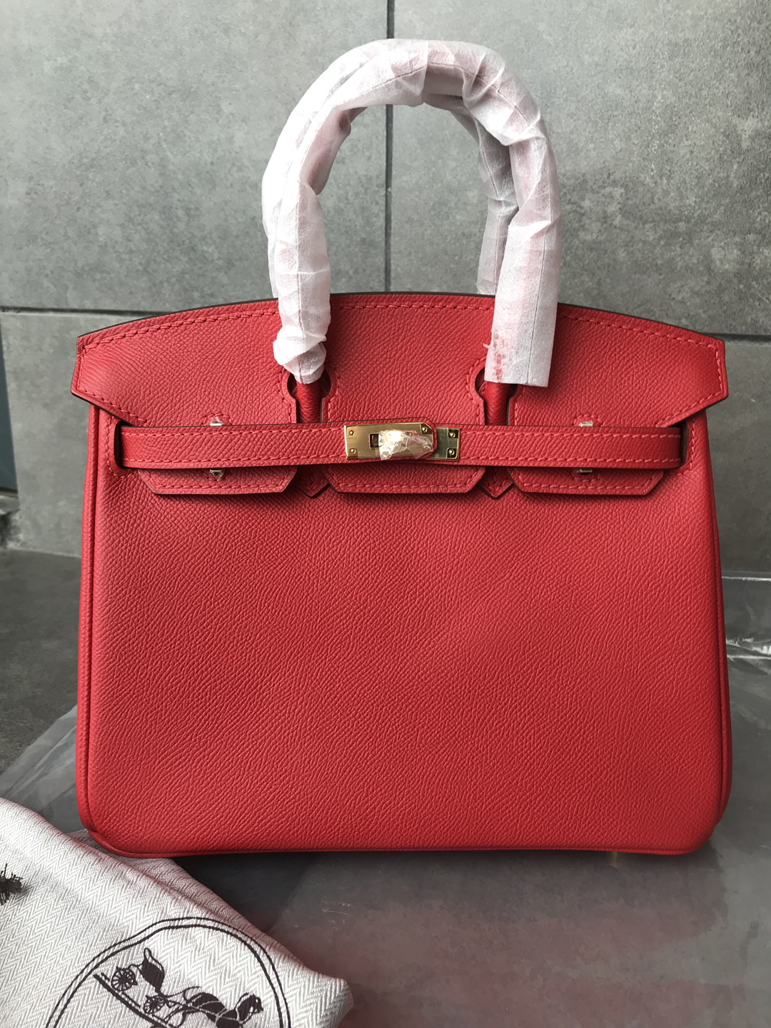 Hermes Birkin 25 Rouge Casaque Red Epsom Gold Hardware