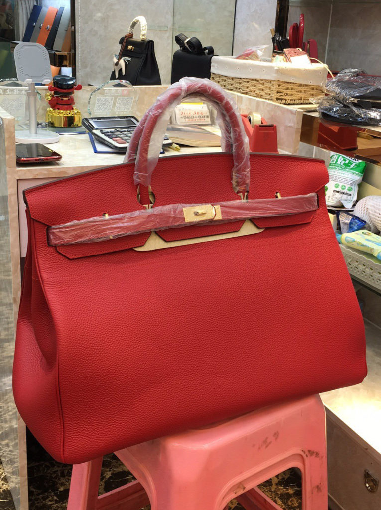 Hermes Birkin 50 Red Togo Gold Hardware