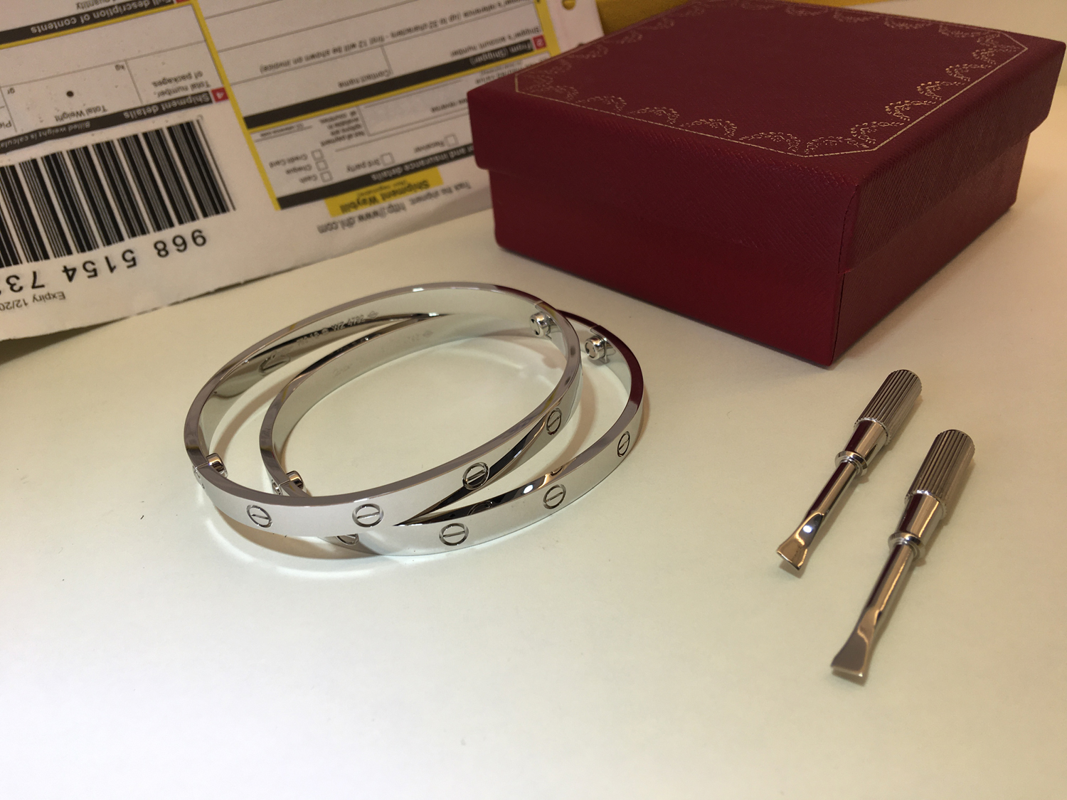Cartier Love Bracelet White Gold Size 19